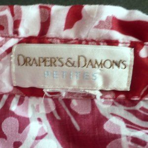 DRAPER'S & DAMON'S Tops - ❤️ DRAPER'S & DAMON'S Red & White Floral Top PL